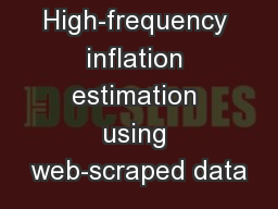 High-frequency inflation estimation using web-scraped data