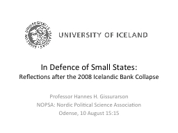 In Defence of Small States: PowerPoint PPT Presentation