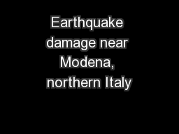 Earthquake damage near Modena, northern Italy