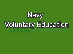 Navy Voluntary Education