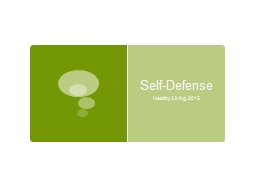 Self-Defense PowerPoint PPT Presentation