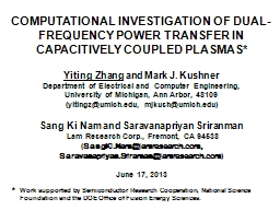 COMPUTATIONAL INVESTIGATION OF DUAL-FREQUENCY POWER TRANSFE