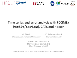 Time series and error analysis with