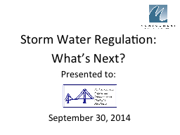 Storm Water Regulation: