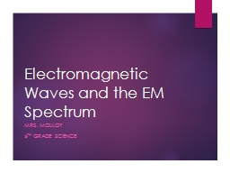 Electromagnetic Waves and the EM Spectrum