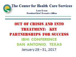 The Center for Health Care Services