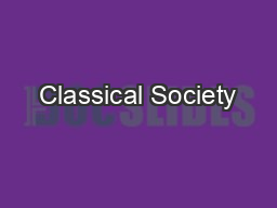 Classical Society