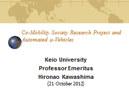 Co-Mobility Society Research Project