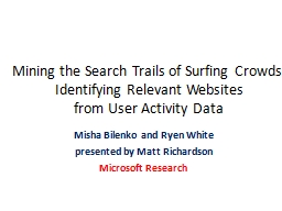 Mining the Search Trails of Surfing Crowds: