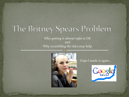 The Britney Spears Problem
