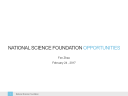 National Science Foundation PowerPoint PPT Presentation