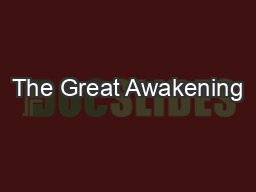 enlightenment great awakening Amazoncom: the great awakening: the roots of evangelical christianity in colonial america (9780300158465): thomas s kidd: books.