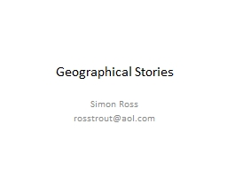 Geographical Stories PowerPoint PPT Presentation