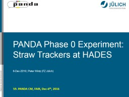 PANDA Phase 0 Experiment: Straw Trackers at HADES