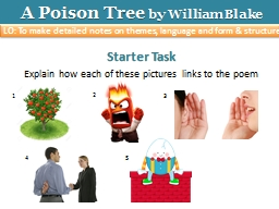 A Poison Tree PowerPoint PPT Presentation