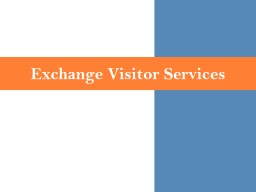 Exchange Visitor Services