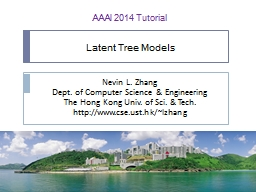 Latent Tree Models PowerPoint PPT Presentation