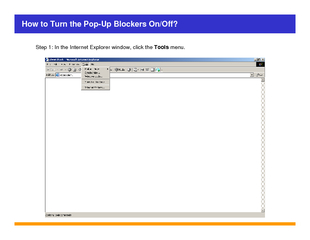 How to Turn the PopUp Blockers OnOff Step  In the Inte