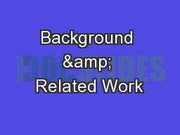 Background & Related Work