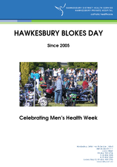 HAWKESBURY BLOKES DAY Since  Celebrating Mens Health W