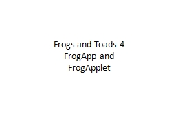 Frogs and Toads 4