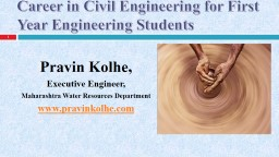 Career in Civil Engineering for First Year Engineering Stud PowerPoint PPT Presentation