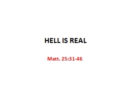 HELL IS REAL PowerPoint PPT Presentation