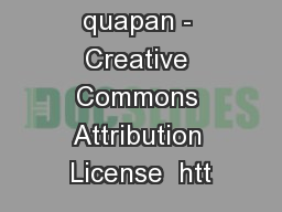 Photo by quapan - Creative Commons Attribution License  htt PowerPoint PPT Presentation