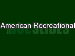 American Recreational