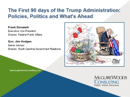 The First 90 days of the Trump Administration: Policies, Po