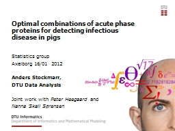 Optimal combinations of acute phase proteins for detecting