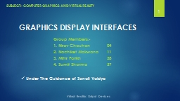 GRAPHICS DISPLAY INTERFACES