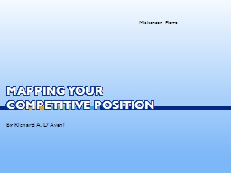 Mapping Your Competitive Position