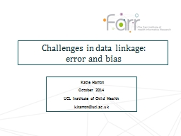 Challenges in data linkage: