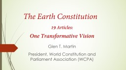 The Earth Constitution