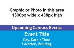 Upcoming Campus Events