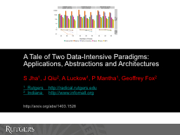 A Tale of Two Data-Intensive Paradigms: Applications, Abstr