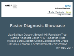 Faster Diagnosis Showcase