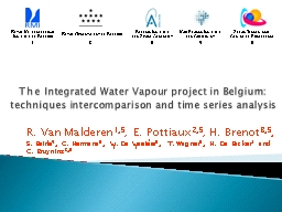The Integrated Water Vapour project