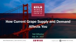 How Current Grape Supply and Demand Affects You