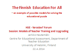 The Finnish Education For All
