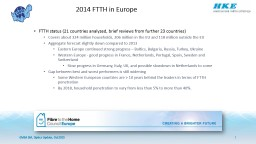 FTTH status (21 countries analyzed, brief reviews from