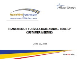 Transmission Formula Rate Annual True-Up
