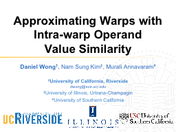 Approximating Warps with Intra-warp Operand