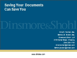 Saving Your  Documents