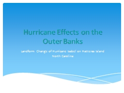 Hurricane Effects on the