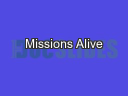 Missions Alive