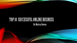 Top 10  Successful Online Business