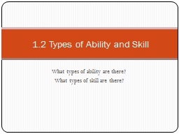 What types of ability are there?