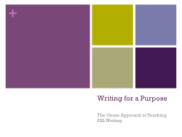 Writing for a Purpose